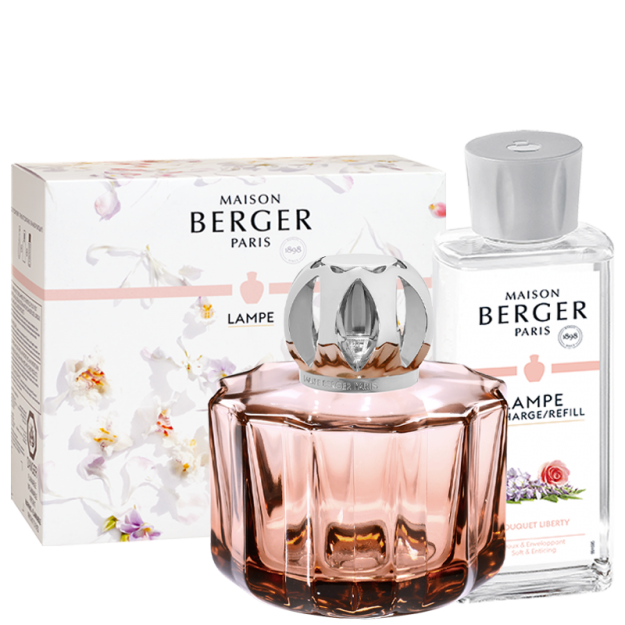 Coffret Lampe Poesy & son parfum Bouquet Liberty